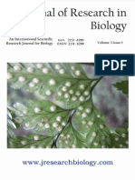 Journal of Research in Biology Volume 3 Issue 1