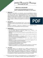 Directiva 2014-003 - Mpp - Elaboracion de Expedientes Tecnicos