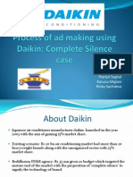 TV advertising steps - Daikin Case