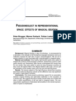 Pseudoneglect in representational space - effects of magical ideation (Brugger et al. 2007)