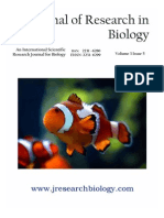 Journal of Research in Biology Volume 3 Issue 5
