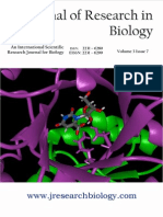 Journal of Research in Biology Volume 3 Issue 7