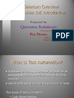 Selenium Installation Presented by Quontra Solutions