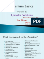 Selenium-Basics by Quontra Solutions