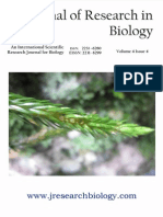 Journal of Research in Biology Volume 4 Issue 4