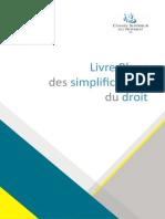 Livre Blanc des Simplifications du Droit du CSN