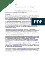 JRF Information Bulletin - W/E 25 July 2014