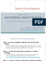 Cognos Report Development Tips and Tricks by Quontra Solutions
