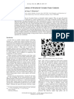 Fundamentals and Applications of Structured Ceramic Foam Catalysts