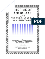 The time of  Asr Salaat