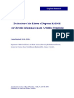 Evaluation of the Effects of NKO on Chronic Inflammation and Arthritic Symptoms