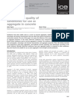 Assessing the Quality of Sandstones for Use Aas Aggregate in Concrete