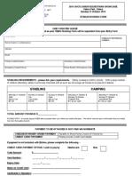 2014 SHCV Junior Equestrian Showcase - Stable Booking Form