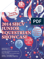 2014 SHCV Junior Equestrian Showcase Schedule