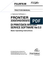 Fuji Frontier 330-340-350-370-390 - Di Print-data Writing Service Software Ver.5.0 First Edition Rulit Net 158097