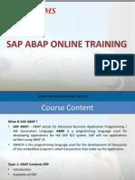 SAP ABAP Online Training | Online SAP ABAP Training | SAP ABAP Online Course
