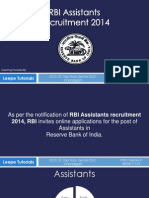 RBI Assistants Recruitment 2014