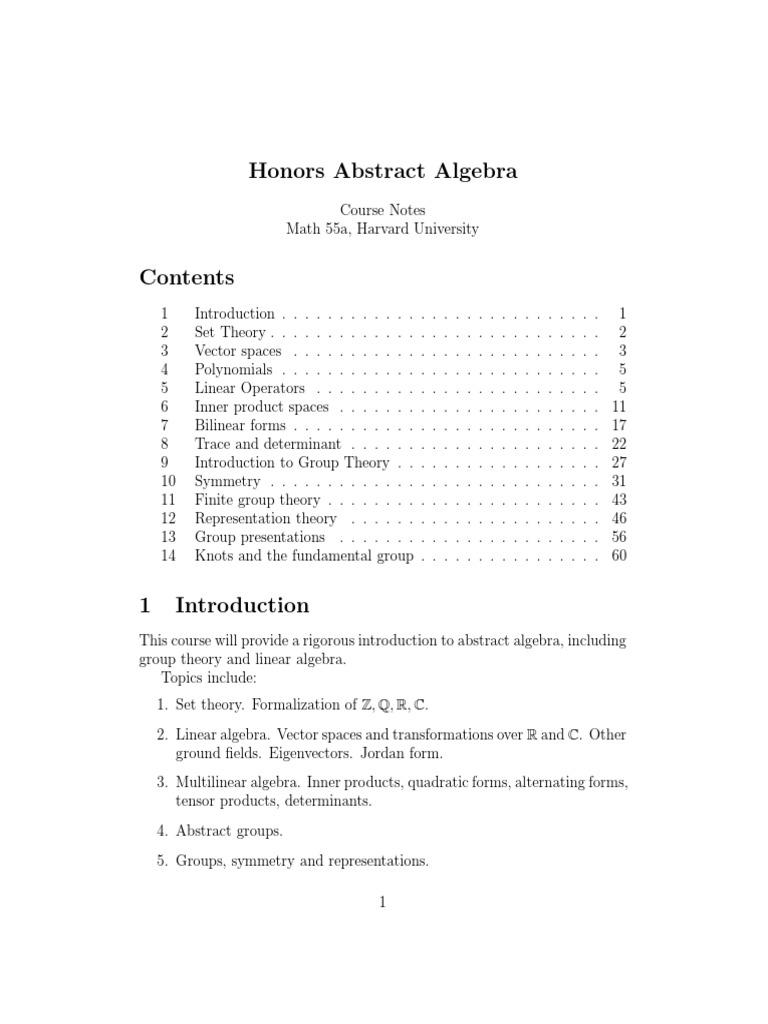 Math 55a | Eigenvalues And Eigenvectors | Determinant
