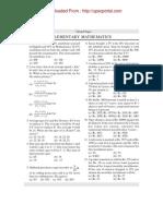 CDS Exam Paper 1 Elementary Mathematics 2008 Www.upscportal.in