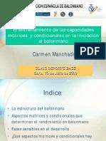 Los Aspectos Fisicos en Las Categor as Infantil y Cadete Carmen Manchado 2009