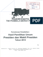 Permohonan Sengketa Pilpres 2014 Prabowo Hatta
