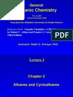 Lecture 3 - Alkanes and Cycloalkanes