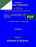 Lecture 6 - Alkenes & Alkynes