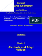 Lecture 9 - Alcohols and Alkyl Halides
