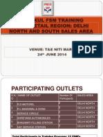 GURUKUL FSM TRAINING PPT Delhi South & North Sales Area