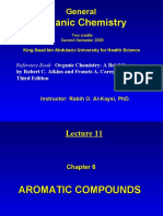 Lecture 11 - AROMATIC COMPOUNDS