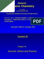 Lecture 16 - Alcohols,  Phenols