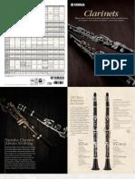 Catalog Yamaha Clarinette