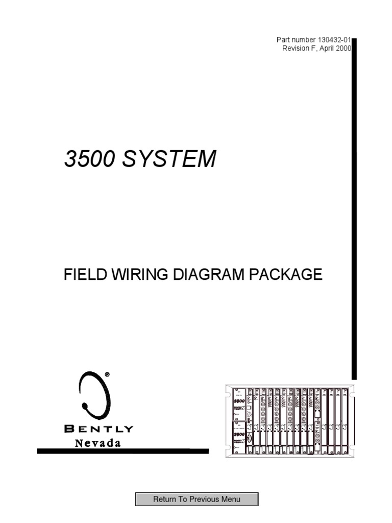 3500 system field wiring diagram package 130432 01 electronics rh scribd com bently nevada 1900/65a wiring diagram bently nevada field wiring diagram