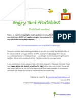 Angry Birds Printable Pack Preschool