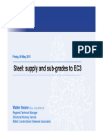 Steel Supply Sub-grades to EC3