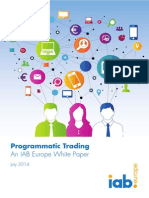 IAB Europe Programmatic Trading White Paper July 2014 2