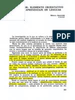 Aragonés 1984 El Error, Elemento Orientativo en El Aprendizaje de Lenguas
