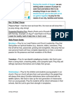 21 Days of Prayer Guide - Aug 2014