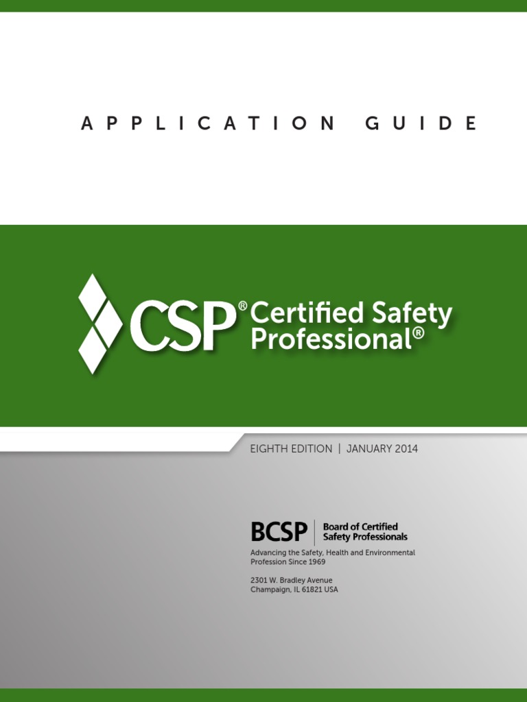 Csp Application Guide Academic Degree Professional Certification