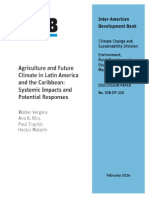 Agriculture and Future Climate in Latin America and the Caribbean- Systemic Impacts and Potential Re