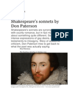shakespeare guardian article - d patterson