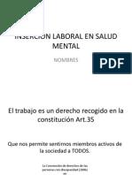 Inserción Laboral en Salud Mental