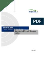 WALKair 3000 Release Notes Ver 2.04RRS