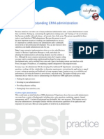 Achieving outstanding CRM administration