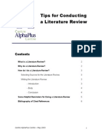 Tips for Conducting a Literature Review