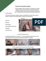 Concrete Test Cube Procedure