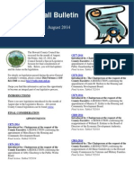 August 2014 Legislation Edition