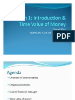 Introduction & Time Value of Money
