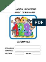 Evaluación i Semestre Matematica 4to