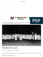 The New N-word